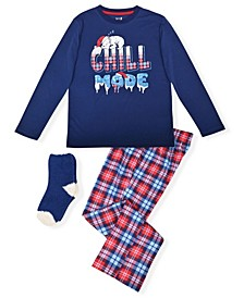 Big Boy's 2 Piece Chill Mode Pajama Set with Socks