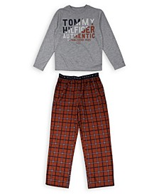 Big Boys Tommy Plaid Pajama Set