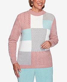 Women's Plus Size St. Moritz Chenille Colorblock Sweater