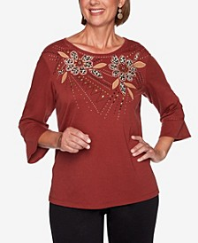 Women's Plus Size Catwalk Animal Print Floral Top