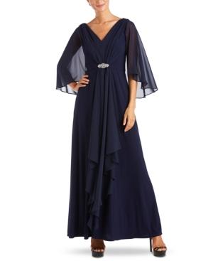 1930s Evening Dresses | Old Hollywood Silver Screen Dresses R  M Richards Embellished-Waist Draped Gown $199.00 AT vintagedancer.com