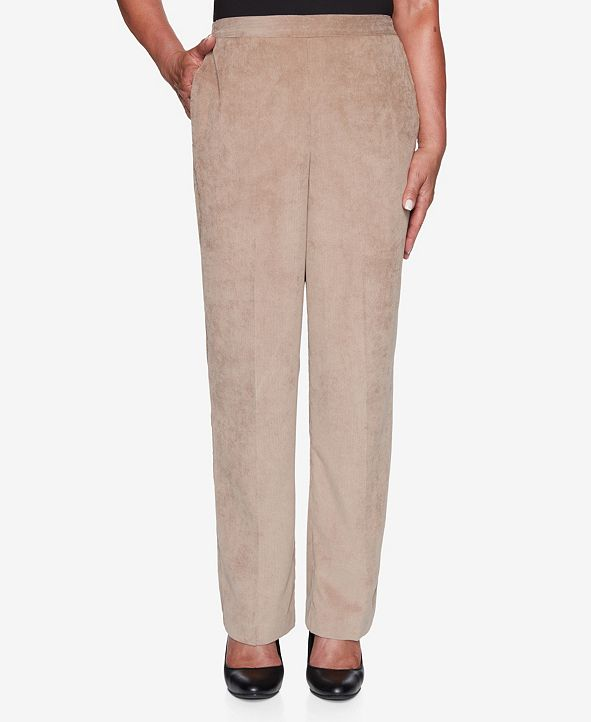 Alfred Dunner Women's Plus Size Dover Cliffs Corduroy Proportioned Pant