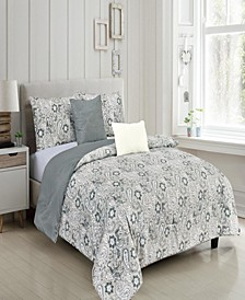 Francesca Reversible King Comforter Set, 5 Piece