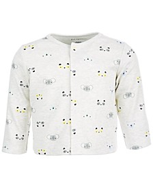 Baby Boys Animal Face Printed Cardigan, Created for Macy's