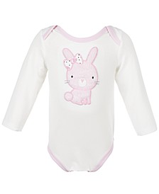 Baby Girls Soft Bunny Bodysuit, Created for Macy's
