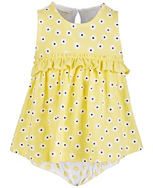 Baby Girls Daisy Ruffle Cotton Sunsuit, Created for Macy's