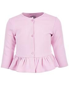 Baby Girls Peplum Cardigan, Created for Macy's