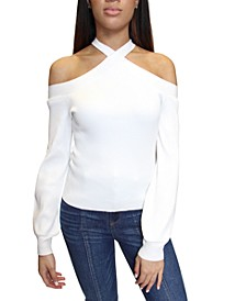 Juniors' Cold Shoulder Sweater