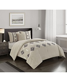 America Benny 4 Piece Comforter Set, Full/Queen