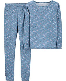 Big Girls 2-Piece Floral Snug Fit Cotton PJs