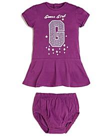 Baby Girls Slub Jersey Ruffle Hem Dress