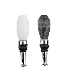 S/2 Marble Octagon Bottle Stoppers