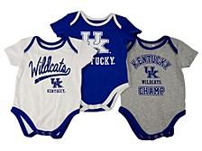Baby 3-Pk. Kentucky Wildcats Champ Cotton Bodysuits