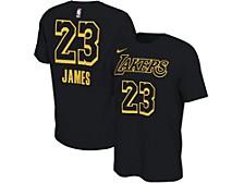 Los Angeles Lakers Youth Black Restart LeBron James T-Shirt
