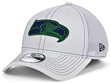 Seattle Seahawks White Team Color Silicone Neo 39THIRTY Cap