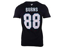 San Jose Sharks Brent Burns Men's Authentic Stack Name & Number T-Shirt