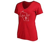 Wisconsin Badgers Women's State T-Shirt