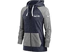Nike Seattle Seahawks Women's Gym Vintage Full Zip Hoodie
