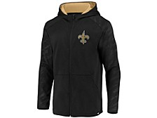 New Orleans Saints Men's Embossed Defender Full Zip Hoodie