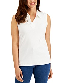 Cotton Split-Neck Tank Top, Created for Macy's