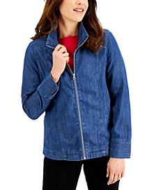 Zip Denim Jacket, Created for Macy's