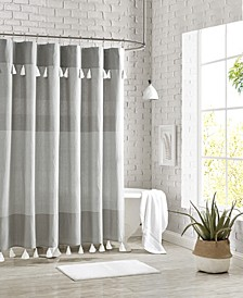 "Panama Stripe Shower Curtain, 72"" x 72"""