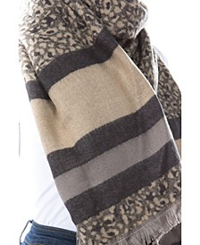 Women's Leopard Stripe Scarf
