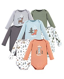 Boys and Girls Cotton Bodysuits, Long Sleeve