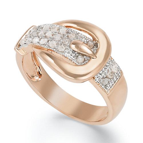 Victoria Townsend 18k Diamond Buckle Ring