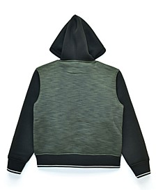 Big Boys William Space Dye Sherpa Lined Fleece Zip Up Jacket with Hood, Made For Macy's