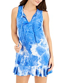 Tie-Dye Ruffled-Hem Cover-Up Dress
