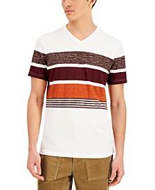 Men's Harvest Stripe V-Neck T-Shirt