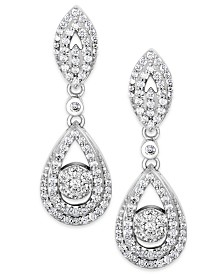 Wrapped in Love™ Diamond Dangling Drop Earrings in 14k White Gold (1 ct. t.w.), Created for Macy's