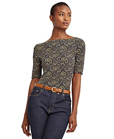Paisley Cotton-Blend Top