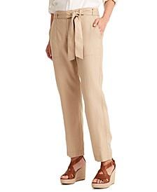 Linen High-Rise Pants