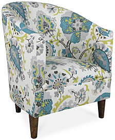 Dixon Ladbroke Fabric Accent Chair, Quick Ship