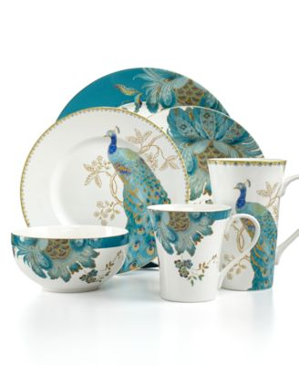 222 Fifth Dinnerware Eliza Teal \u0026 Peacock Garden Mix \u0026 Match Collection  sc 1 st  Macy\u0027s & 222 Fifth Dinnerware Eliza Teal \u0026 Peacock Garden Mix \u0026 Match ...