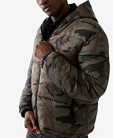 Men's Camo Puffer Long Sleeve Jacket