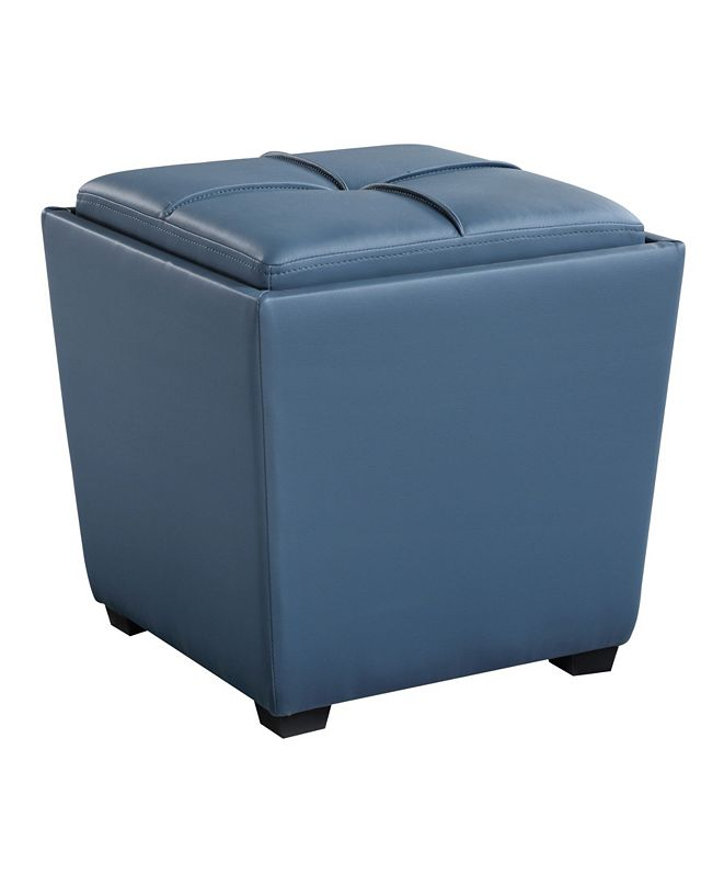 OSP Home Furnishings Rockford Storage Ottoman inFaux Leather