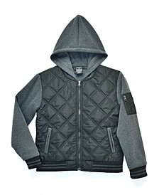 Big Boys Andy Varsity Twofer Quilted Zip Up Jacket, Made For Macy's