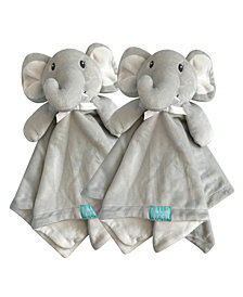 "Snoogie Boo 2-Pack Lovey and Security Blanket with Stuffed Animal Style, 18"" x 18"""