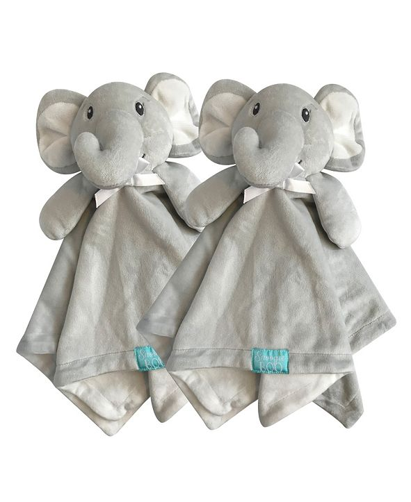 "Happycare Textiles Snoogie Boo 2-Pack Lovey and Security Blanket with Stuffed Animal Style, 18"" x 18"""