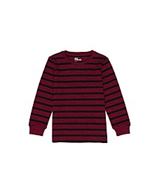 Toddler Boys Long Sleeve Striped Thermal