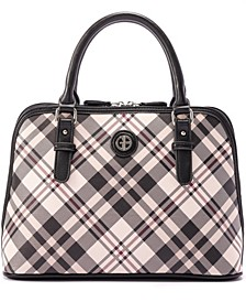Saffiano Plaid Dome Satchel, Created for Macy's