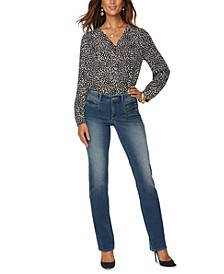 Clean Enchantment Tummy-Control Straight-Leg Jeans
