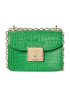 Croc Embossed Leather Mini Beckett Crossbody Bag