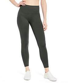 High-Waist Side-Pocket 7/8 Length Leggings, Created for Macy's