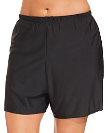 Island Escape Plus Size Swim Shorts, Created for Macy's