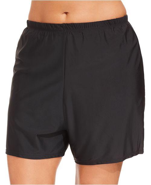 d7ba62385d027 Island Escape Plus Size Swim Shorts, Created for Macy's & Reviews ...