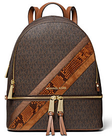 Michael Michael Kors Rhea Zip Medium Signature Backpack